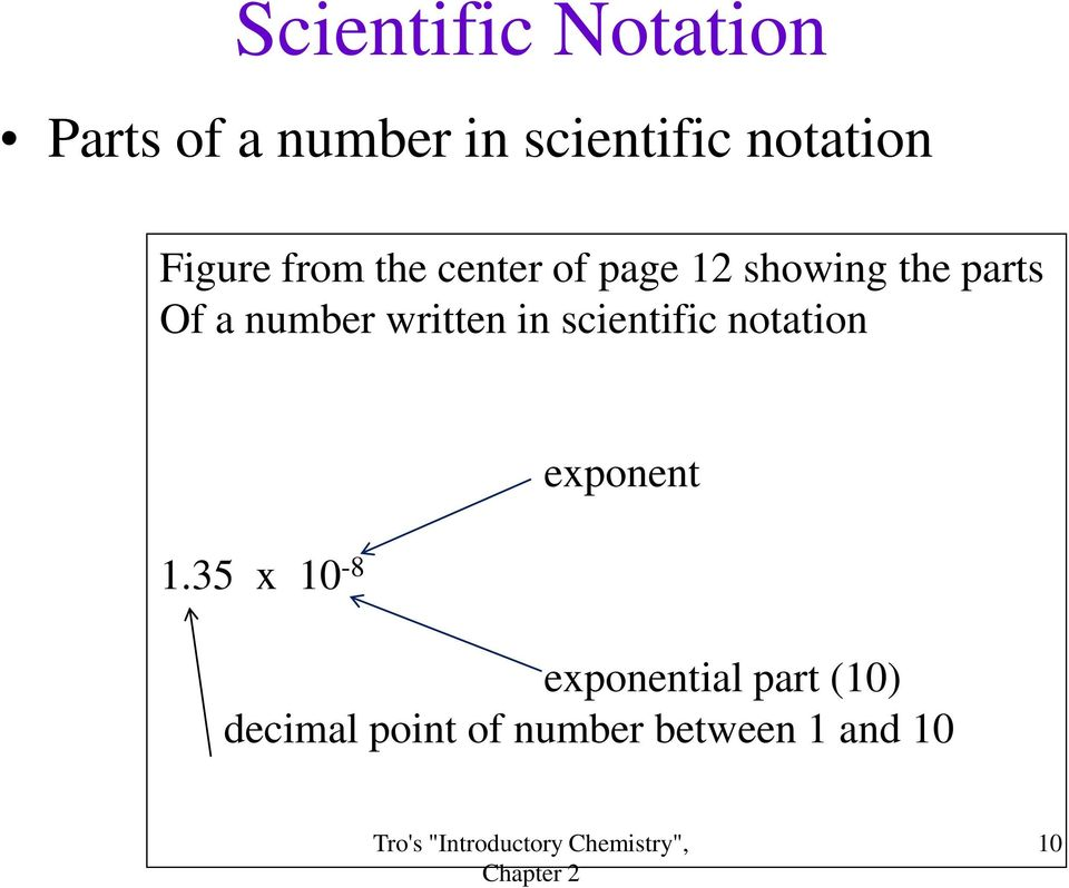 number written in scientific notation 1.