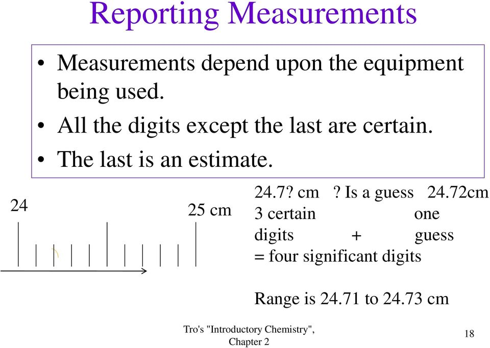 The last is an estimate. 24 25 cm 24.7? cm? Is a guess 24.