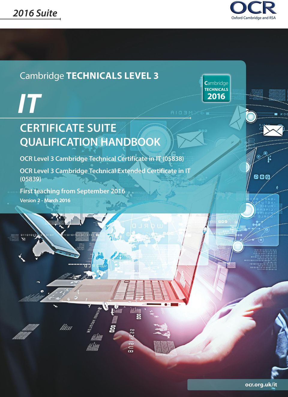 IT (05838) OCR Level 3 Cambridge Technical Extended Certificate in IT
