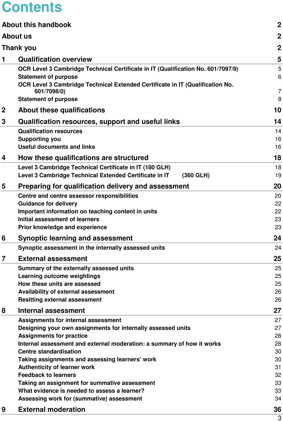 601/7098/0) 7 Statement of purpose 8 2 About these qualifications 10 3 Qualification resources, support and useful links 14 Qualification resources 14 Supporting you 16 Useful documents and links 16