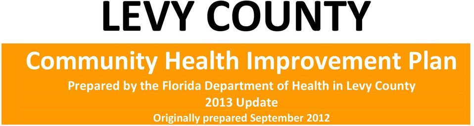 Florida Department of Health in Levy