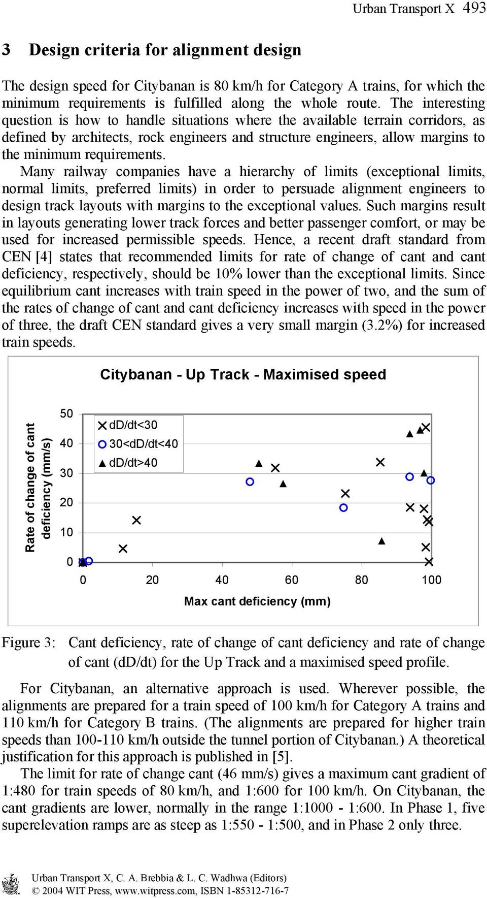 Many railway companies have a hierarchy of limits (exceptional limits, normal limits, preferred limits) in order to persuade alignment engineers to design track layouts with margins to the