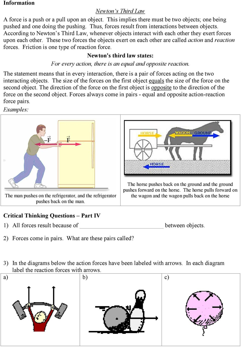 Newton s laws of motion pdf these two forces the objects exert on each other are called action and reaction forces pooptronica Choice Image