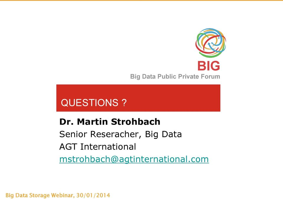 Reseracher, Big Data AGT