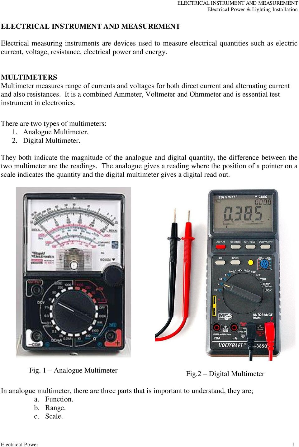 electronic test instruments analog and digital measurements