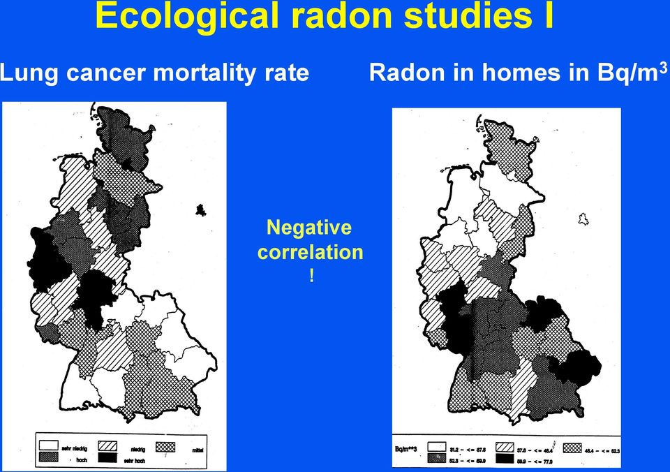 rate Radon in homes in