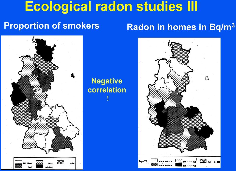 smokers Radon in homes