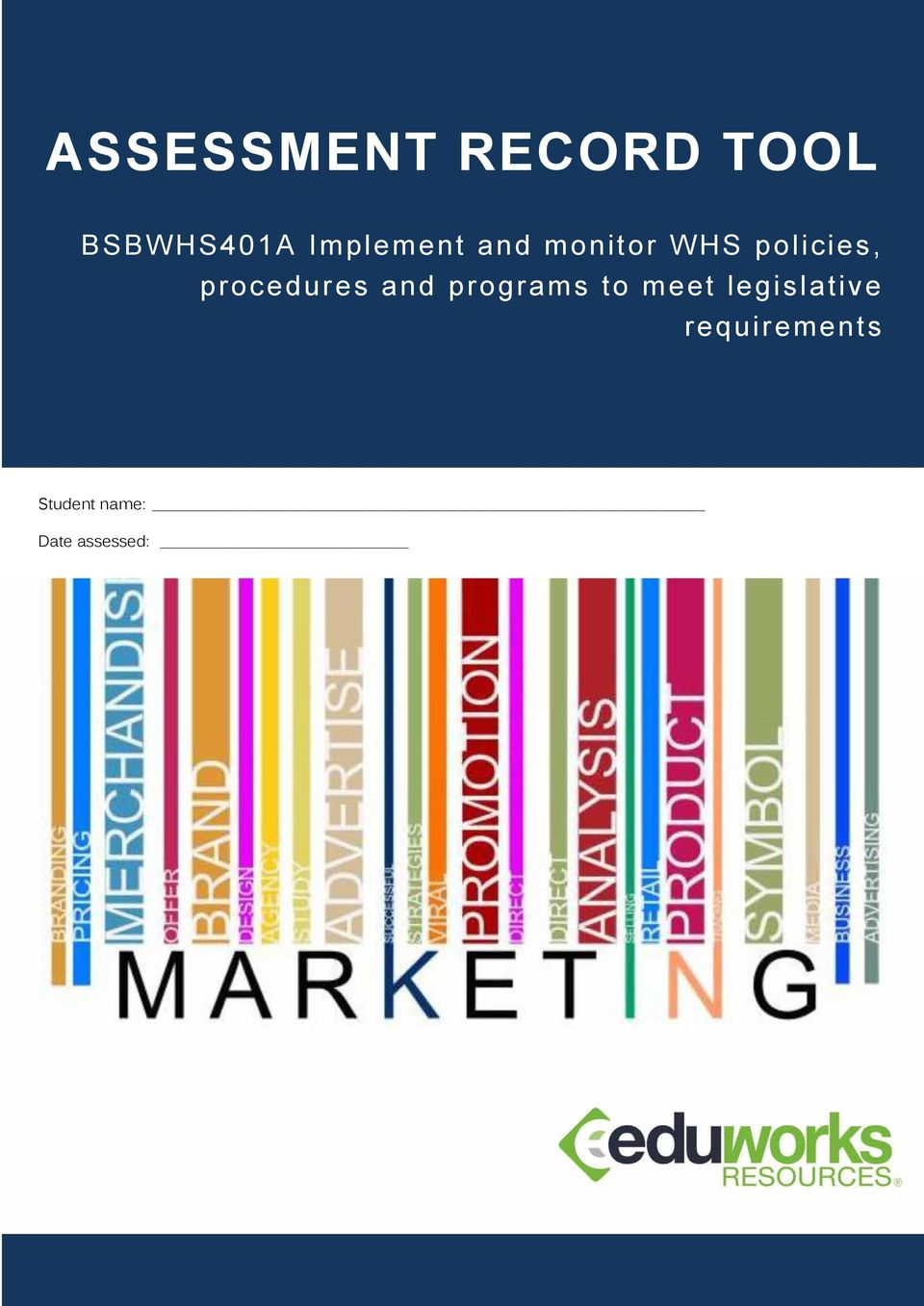 assessment 2 bsbwhs401a implement and monitor Assessment pack – bsbwhs401a implement and monitor whs policies, procedures and programs to meet legislative requirements mammar-momma assessment 4 – case study 3.