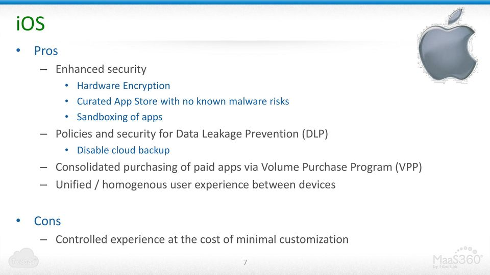 backup Consolidated purchasing of paid apps via Volume Purchase Program (VPP) Unified /