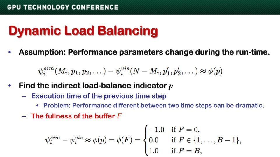 Find the indirect load-balance indicator p Execution time of the