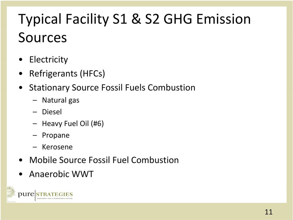 Combustion Natural gas Diesel Heavy Fuel Oil (#6) Propane
