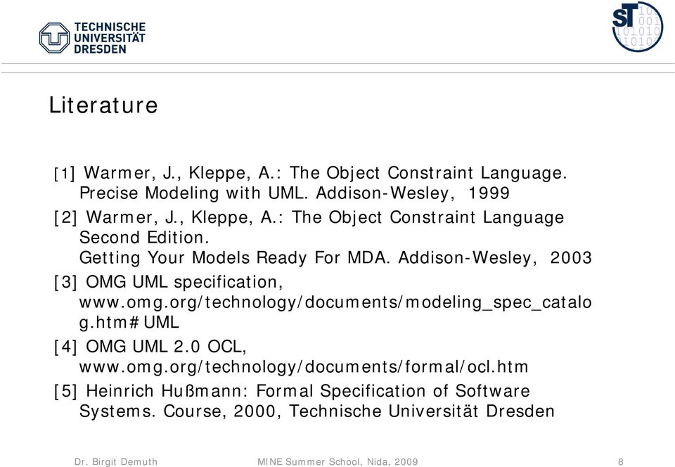 htm#uml [4] OMG UML 2.0 OCL, www.omg.org/technology/documents/formal/ocl.