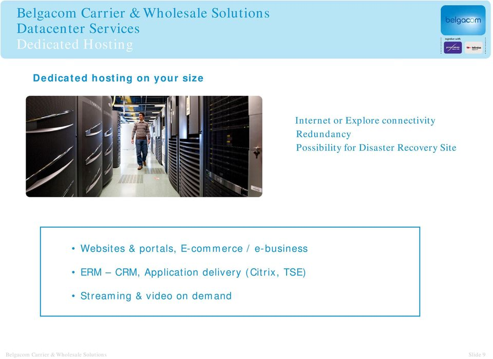 portals, E-commerce / e-business ERM CRM, Application delivery (Citrix,