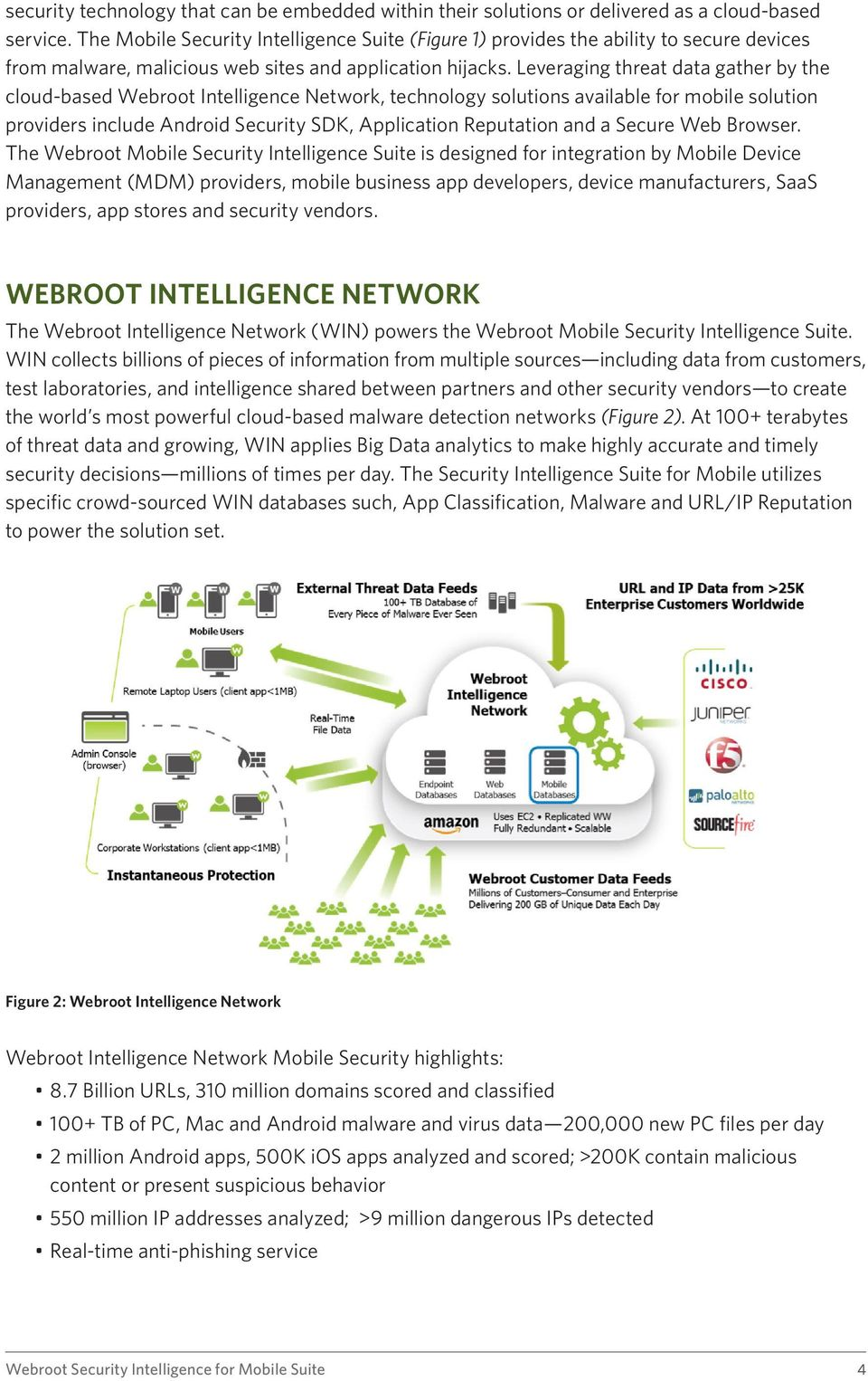 Leveraging threat data gather by the cloud-based Webroot Intelligence Network, technology solutions available for mobile solution providers include Android Security SDK, Application Reputation and a