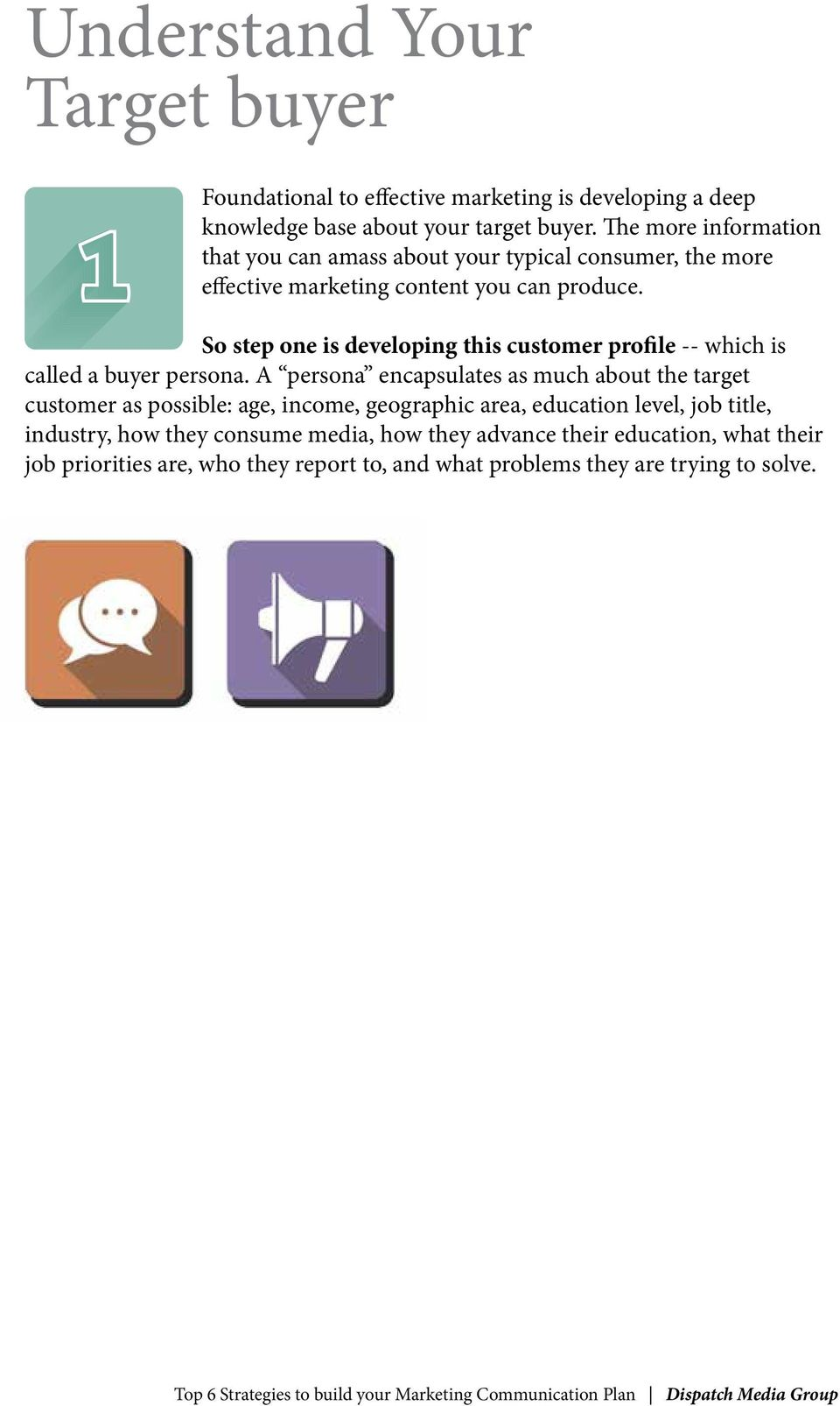 So step one is developing this customer profile -- which is called a buyer persona.