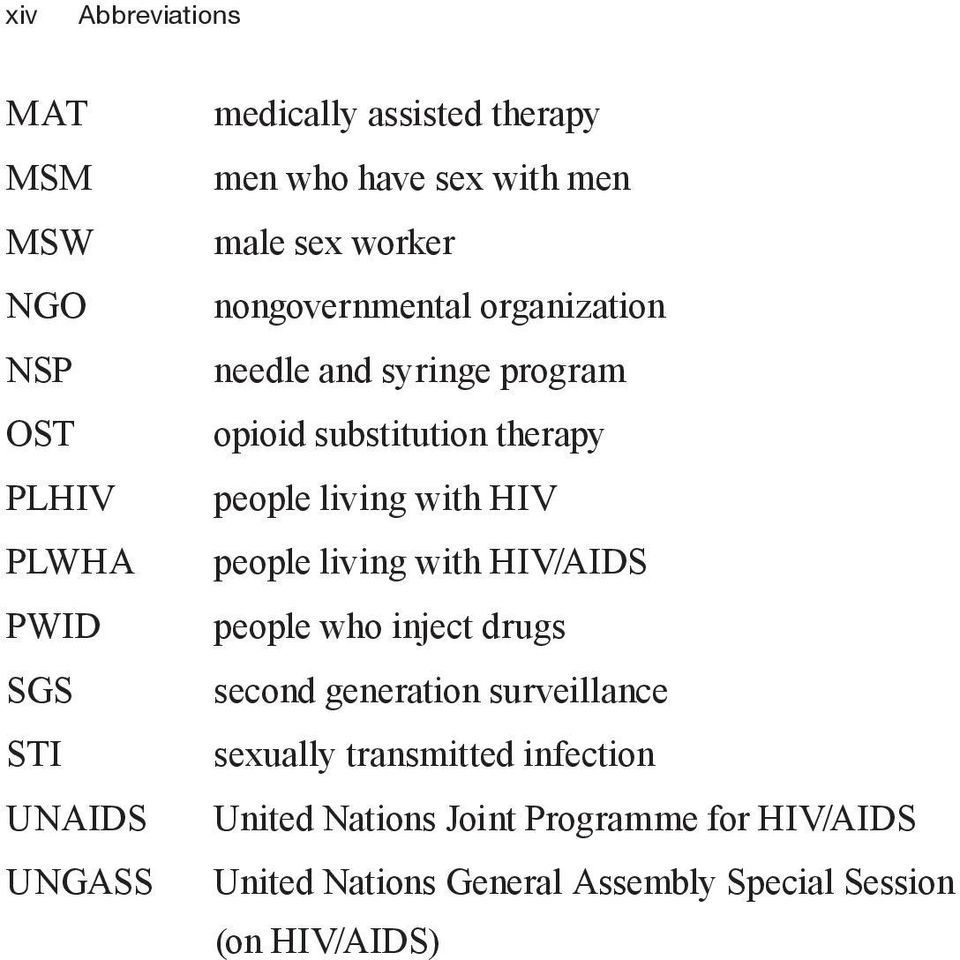 people living with HIV people living with HIV/AIDS people who inject drugs second generation surveillance sexually