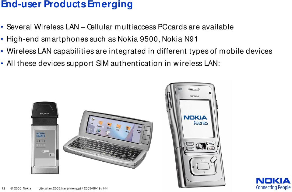 capabilities are integrated in different types of mobile devices All these devices