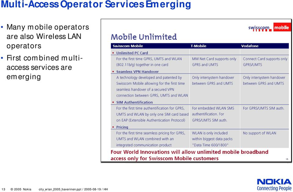 First combined multiaccess services are emerging
