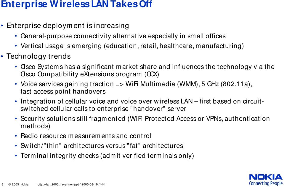 WiFi Multimedia (WMM), 5 GHz (802.