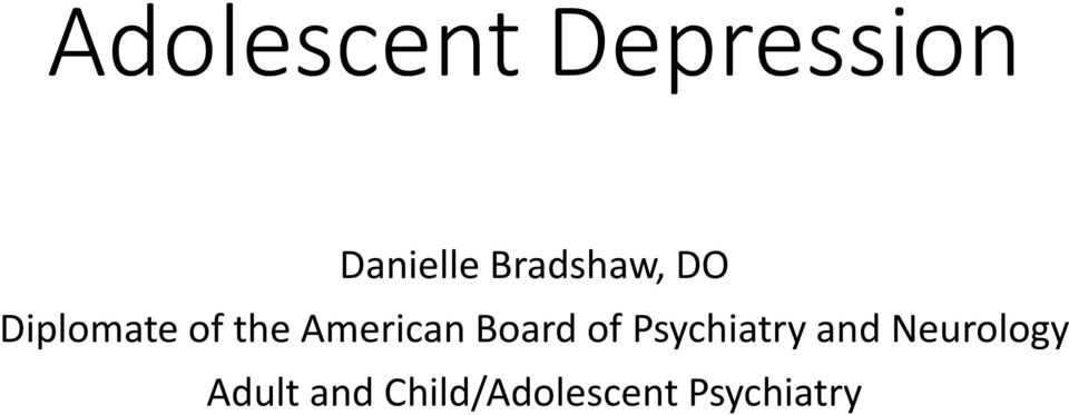 American Board of Psychiatry and