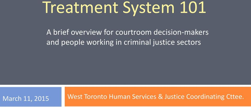in criminal justice sectors March 11, 2015