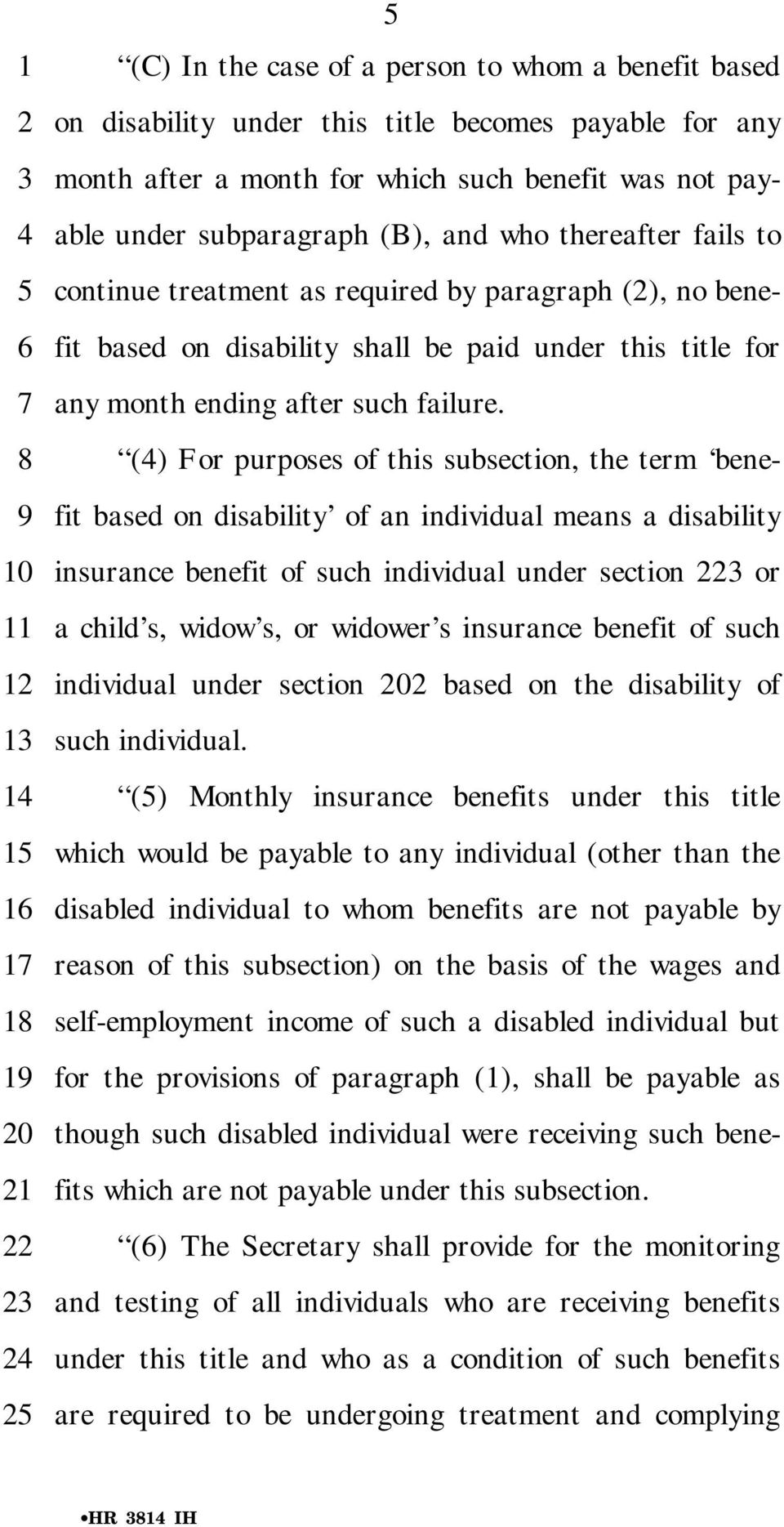 () For purposes of this subsection, the term benefit based on disability of an individual means a disability insurance benefit of such individual under section or a child s, widow s, or widower s