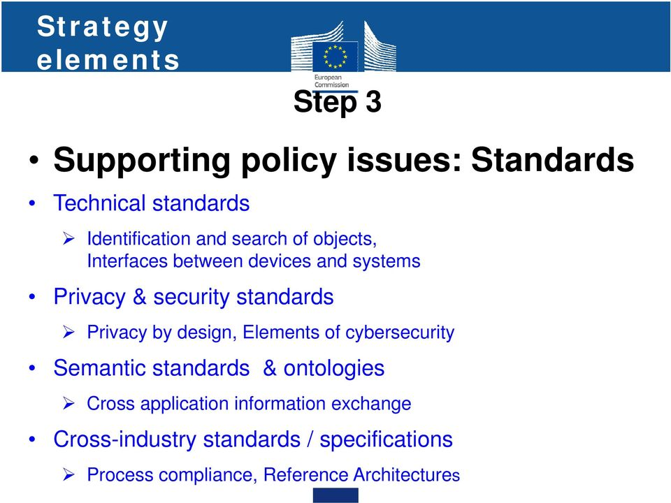 Privacy by design, Elements of cybersecurity Semantic standards & ontologies Cross application