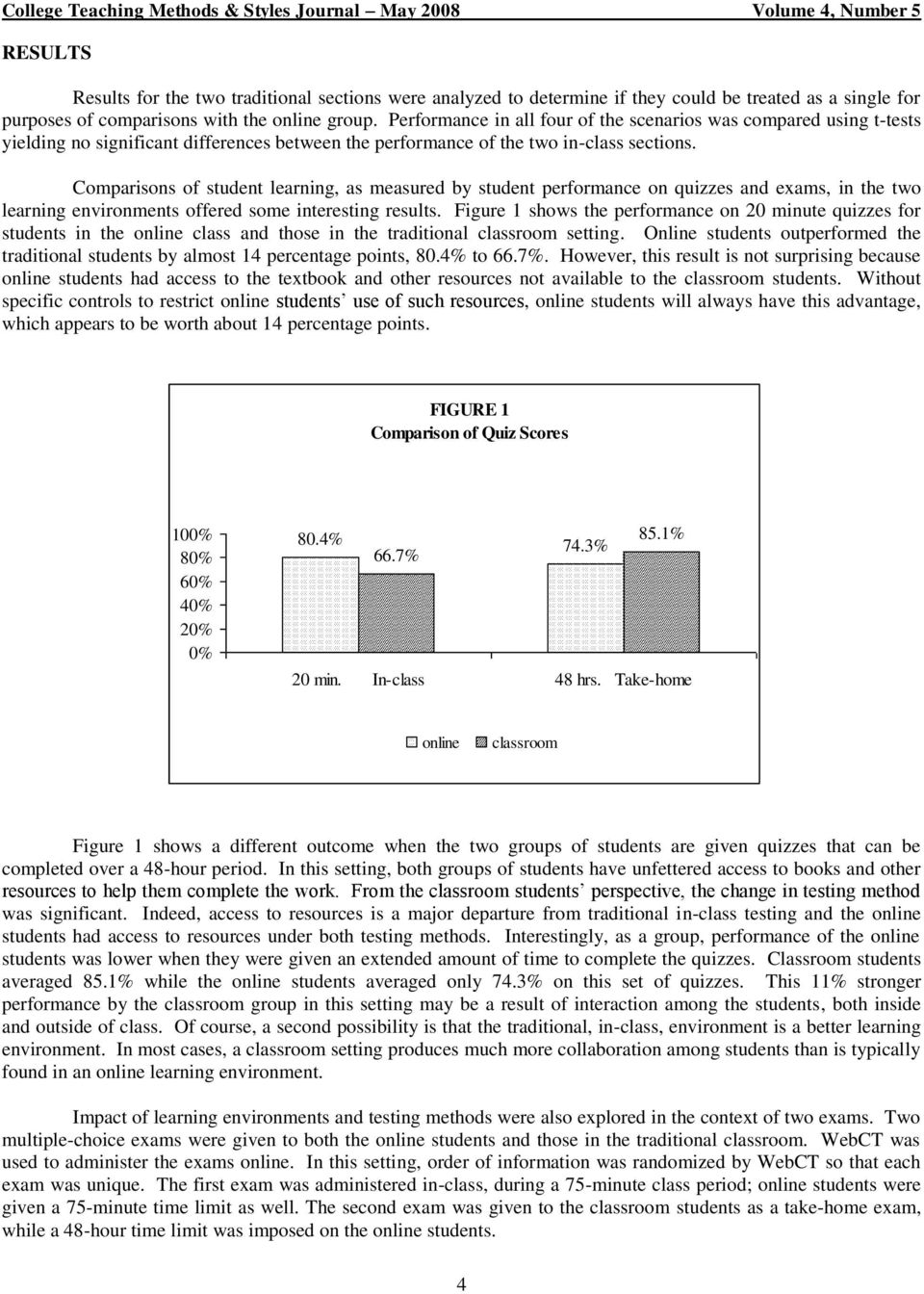 The impact of teaching method on accademic performance of college students