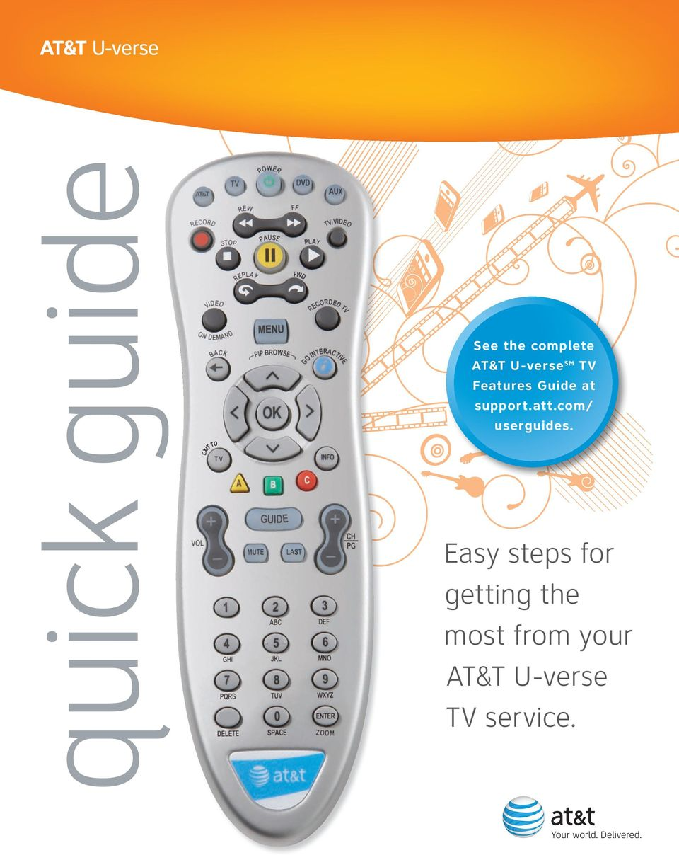 See The Complete Att U Verse Sm Tv Features Guide At Supportatt Manage Dvr Online Attcom Userguides