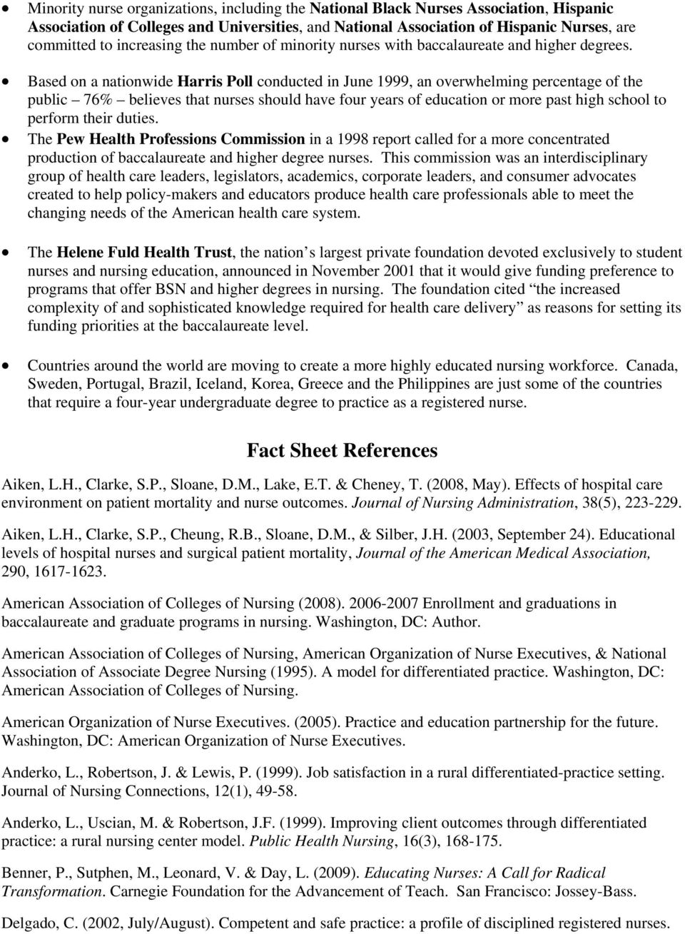 an analysis of the differentiated nursing practices in the hospital setting Copy of learning insights related to nursing practice the problems and adjustments encountered by the nursing  the learning experience of a student nurse, a critical analysis prepared.