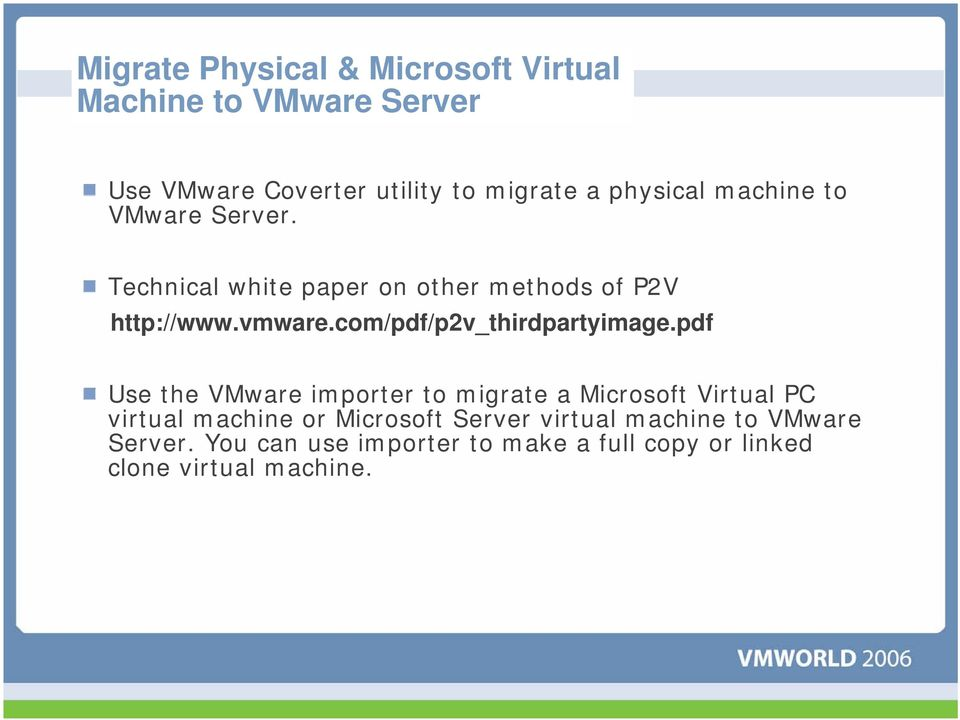 VMware Server Tips & Tricks  Kevin Gehrke Product Support Engineer - PDF