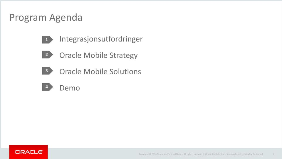 Strategy Oracle Mobile Solutions Demo