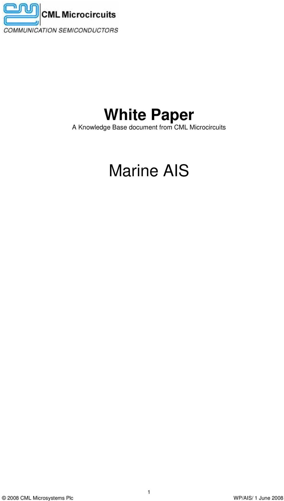 ais paper 2 The mcmurdo smartfind g8 ais and the  our first marine approved two-way radio that helps with firefighting communications and meets the solas chapter ii-2,.