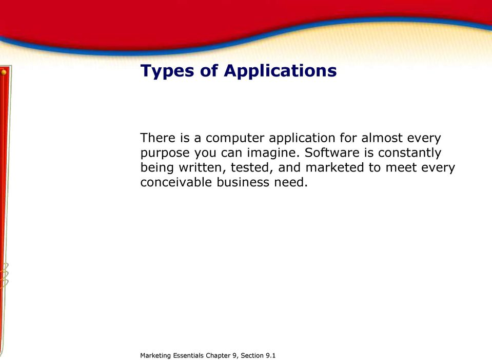the application of computer in marketing Appendix c sample marketing plan c 1  ing dependence on computers,  staff focuses on the further development and marketing of the software.