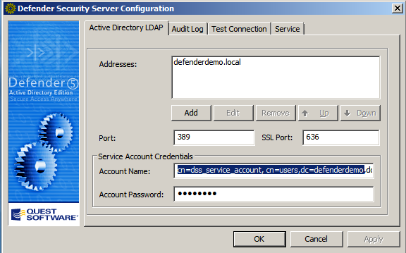 Quickly assign the appropriate permissions to a Defender service account In this session, as an administrator, you will use Active Directory Users & Computers to run the Defender Delegate Control