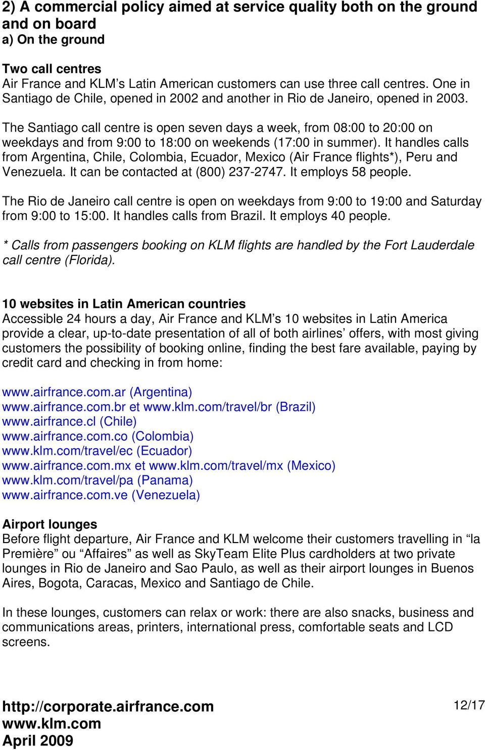 AIR FRANCE AND KLM IN LATIN AMERICA PDF - Invoice klm