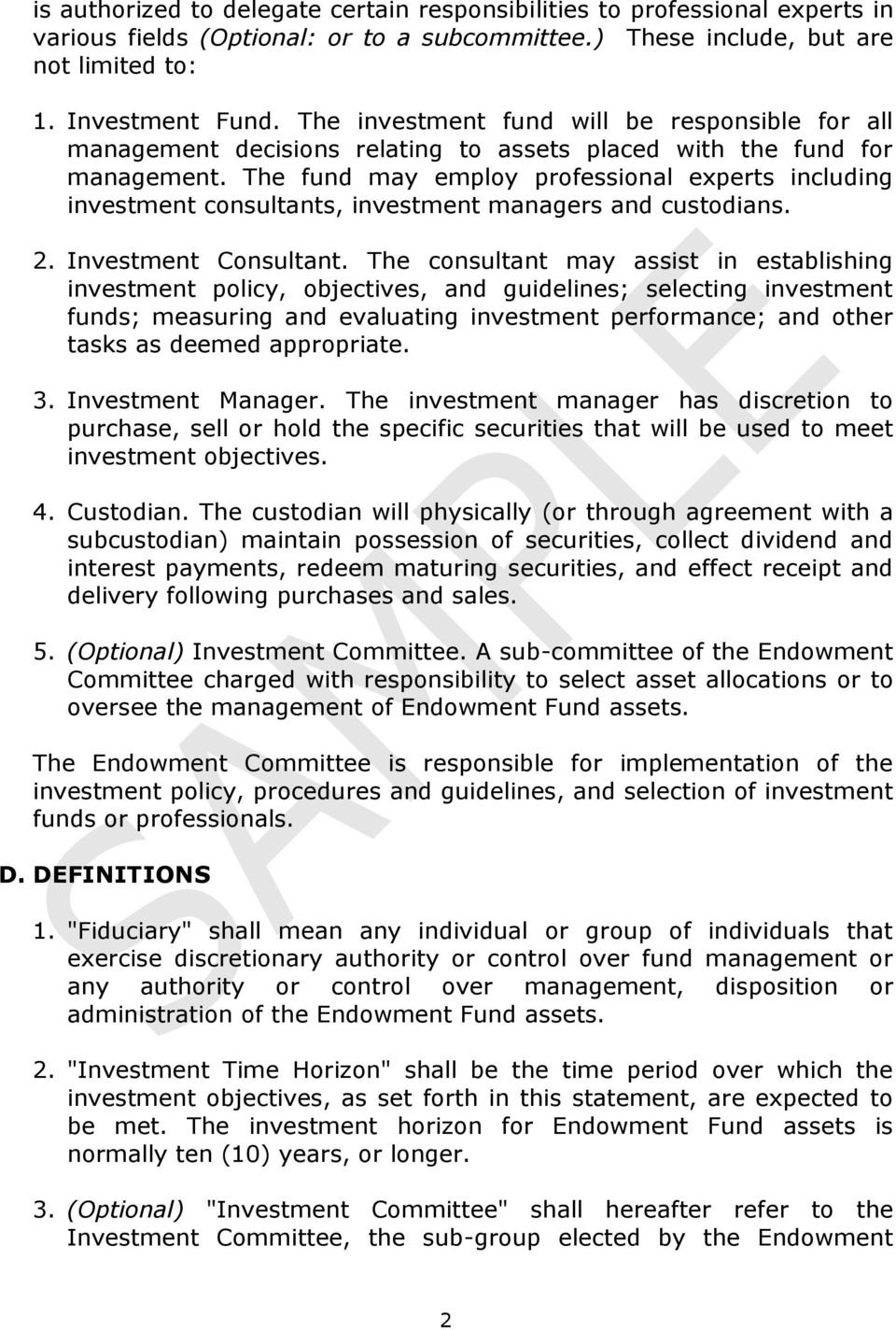 "statement of investment objectives and policy University of vermont statement of investment policies and objectives  i introduction  this statement is issued by the investment subcommittee (the ""isc"") of the board of trustees of the."