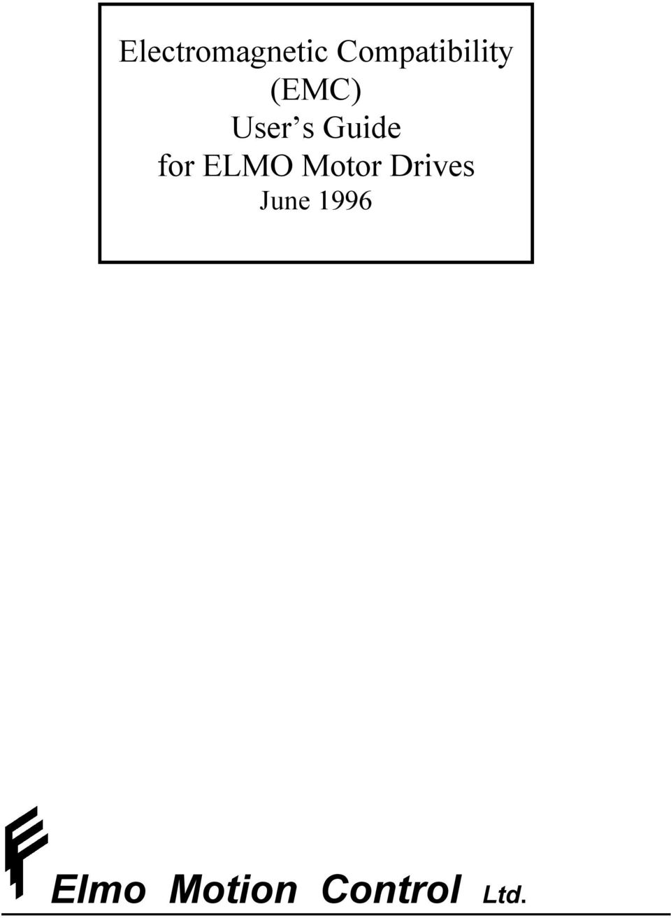 Elmo Motion Control Ltd  - PDF