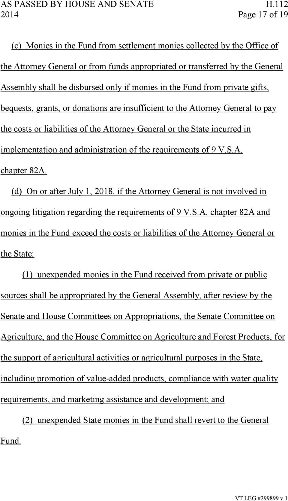 implementation and administration of the requirements of 9 V.S.A. chapter 82A.