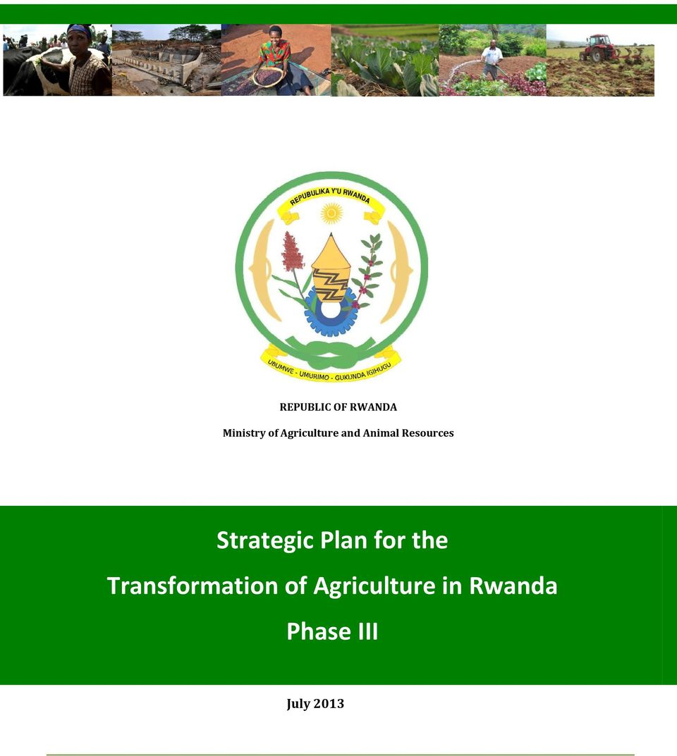 strategic plans for agricultural transformation in rwanda In rwanda, ifad is working to reduce poverty by empowering poor rural men  and  strategy ii and the strategic plan for the transformation of agriculture iii.
