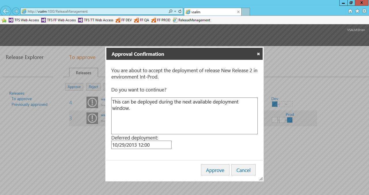 Release management Simple way to request and provide approvals Simple way to request and provide approvals.