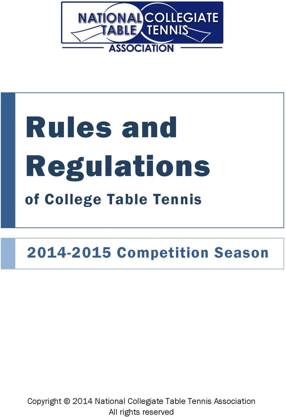 Rules and regulations pdf for 10 table tennis rules