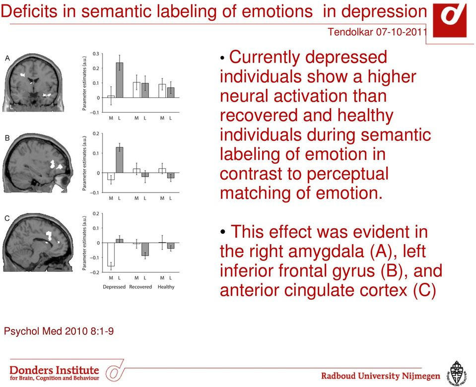 emotion in contrast to perceptual matching of emotion.