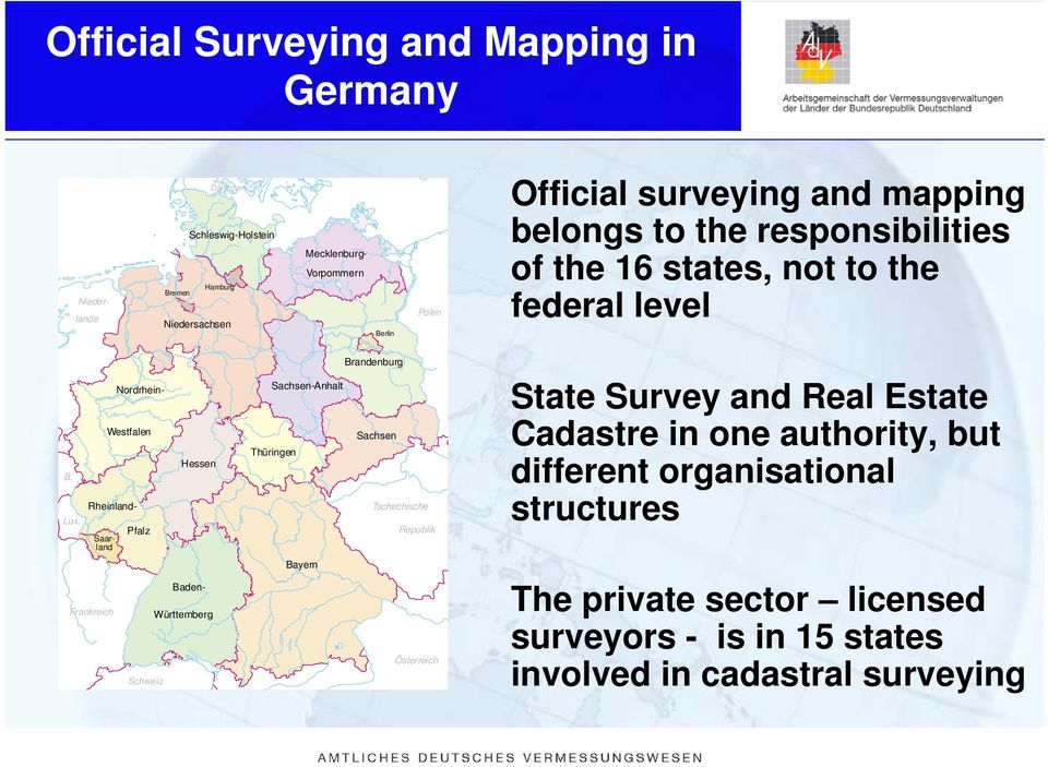 Cadastral Surveying And Mapping : The eu cadastral information systems german system