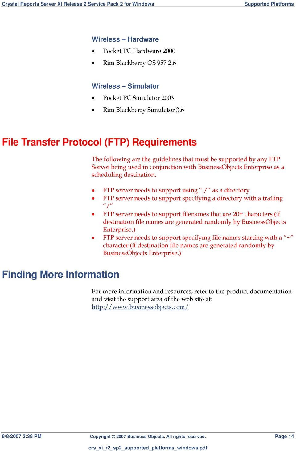 destination. FTP server needs to support using.
