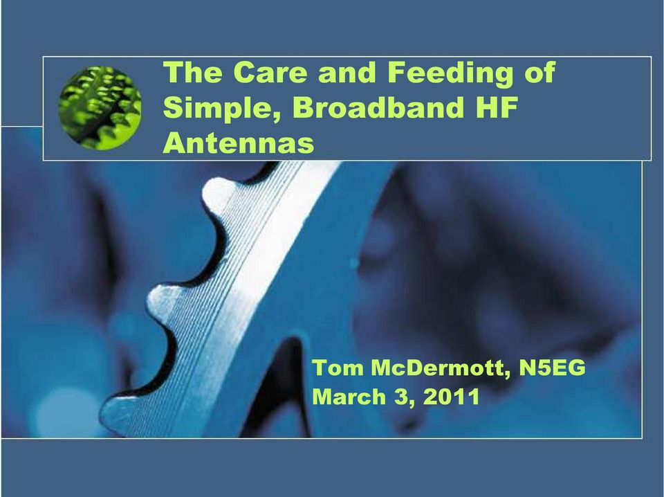 HF Antennas Tom