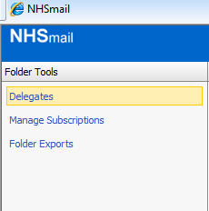 6. Delegating Mailbox access in NHS.NET 1. Open Internet Explorer and go to WWW.NHS.NET 2. Log into your NHS.NET account 3.