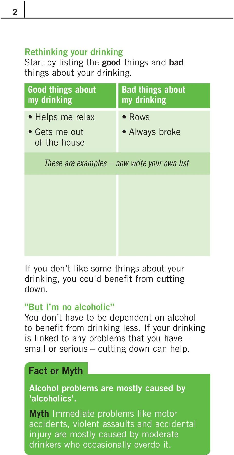 things about your drinking, you could benefit from cutting down. But I m no alcoholic You don t have to be dependent on alcohol to benefit from drinking less.