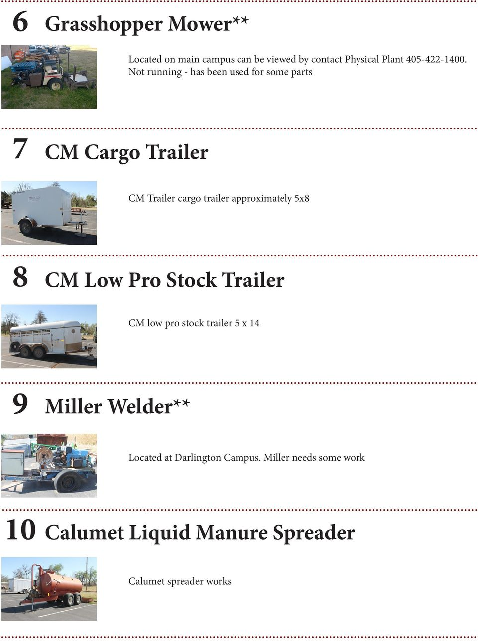 approximately 5x8 8 CM Low Pro Stock Trailer CM low pro stock trailer 5 x 14 9 Miller Welder**