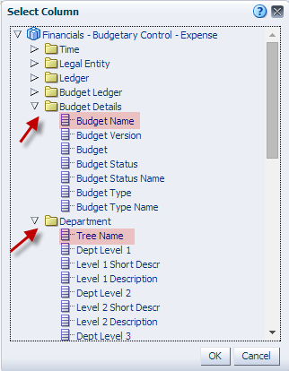 4) Create Column Prompts for the following.